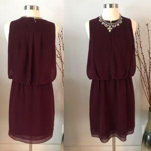 EUC✨BR Burgundy Dress -Front Zipper - Size 6